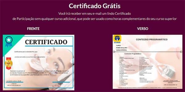 Certificado Aprenda Microagulhamento