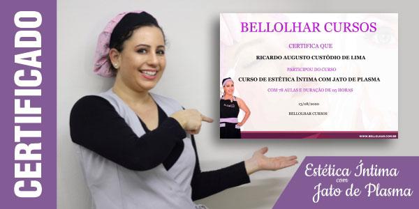 Certificado Curso Estética Íntima Jato de Plasma